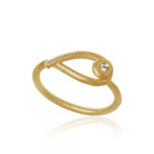 Dulong Kharisma ring i 18 karat guld med diamant