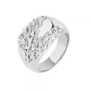 Maria Black Rock Signet ring i rhodineret sølv