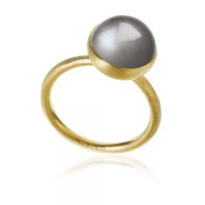 Dulong Pacific ring i 18 karat guld med grå månesten