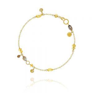 Piccolo Golden Desert - 18kt - Diamant - Citriner - Tahitiperler